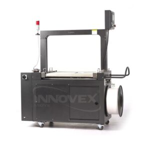 cercleuse automatique avec convoyeur innovex, automatic strapping machine, algerie