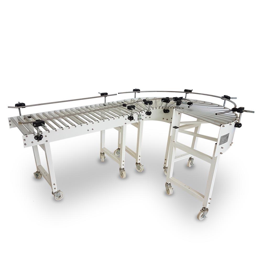 Convoyeur courbé à rouleaux 180° innovex, conveyor, algérie
